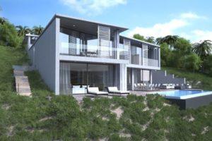 Brand new modern villa with wonderful sea views