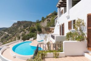 Ibiza Villa in Es Cubells 1st sea line and sea access