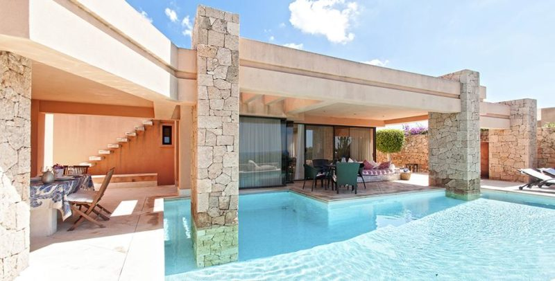 Villa with stunning sea and sunset views in Caló the Real on Ibiza